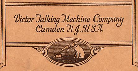 Victor Talking Machine Company Inc., Camden, New Jersey