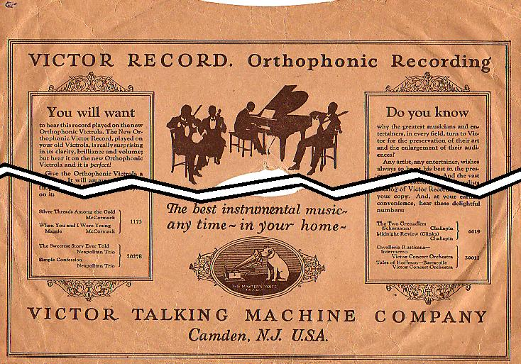 Victor Talking Machine Company's 'Orthophonic' brand name (1926)