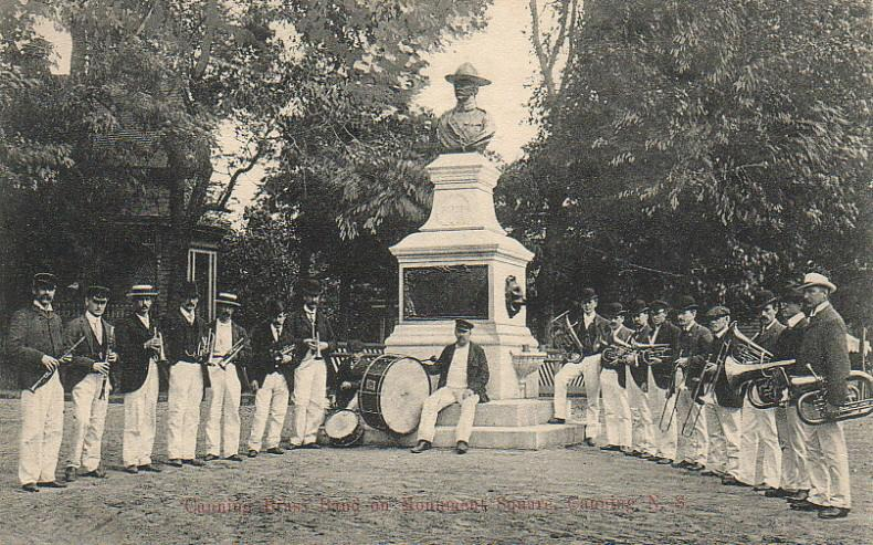 Canning Brass Band, postmarked December 1908