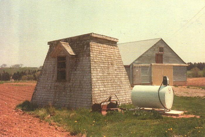 The lighthouse as it looked before restoration