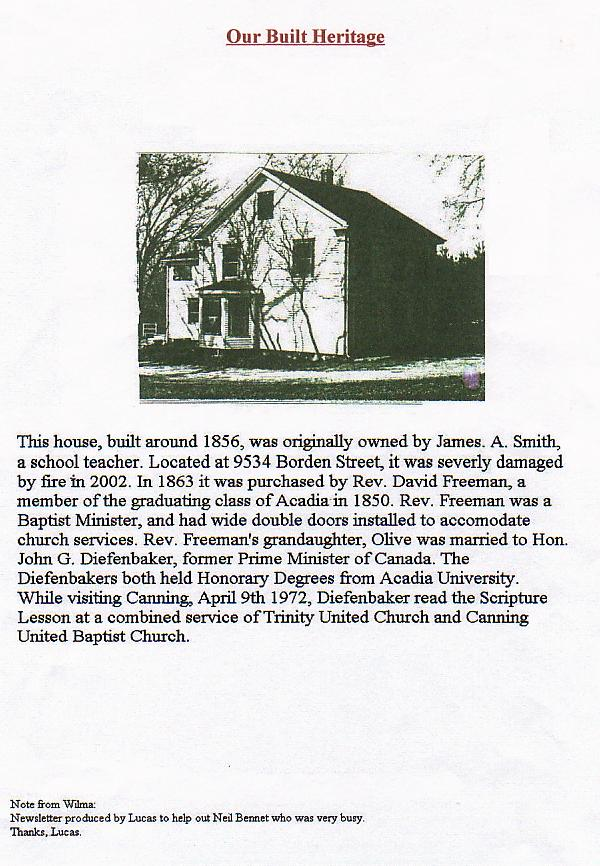Canning's Fieldwood Heritage Society Newsletter August 2002, page 4