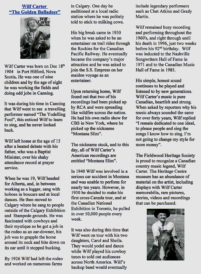 Canning's Fieldwood Heritage Society Newsletter August 2003, page 3