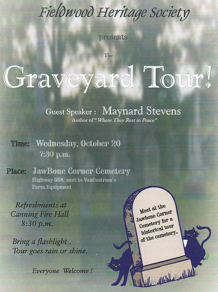 Poster: Tour of Jawbone Corner Cemetery, 20 October 2004