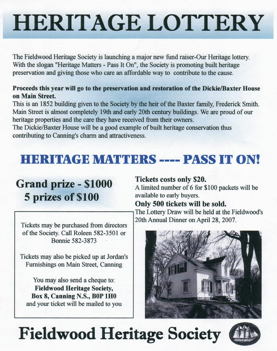 Poster: Fieldwood Heritage Society, 20th Annual Dinner Meeting, 28 April 2007