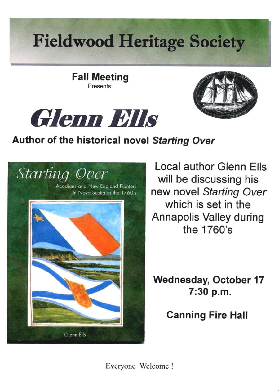 Fieldwood Heritage Society: Poster, Fall Meeting, 17 Oct 2007