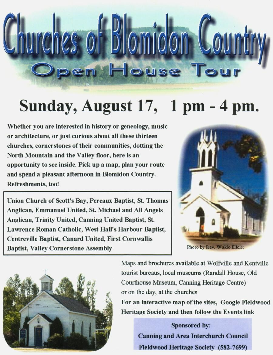 Churches of Blomidon Country Open House Tour, 17 Aug 2008