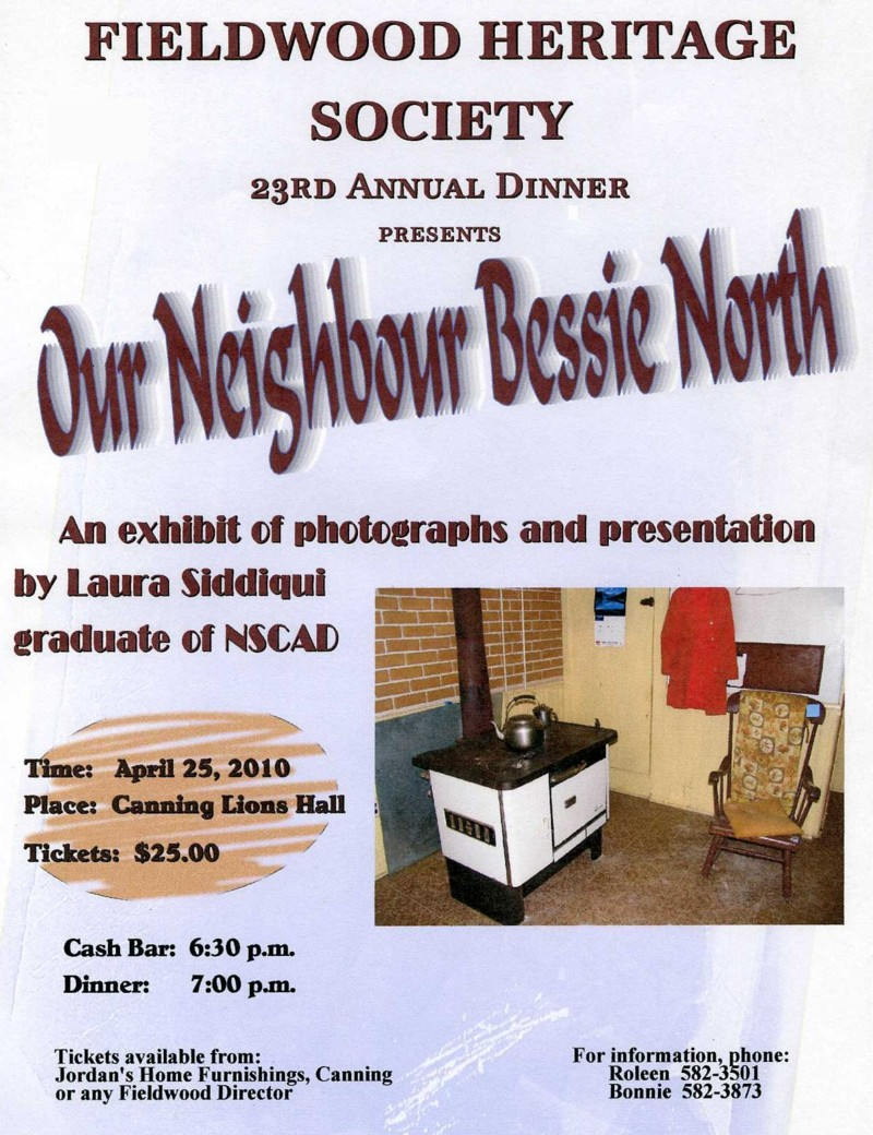 Poster: Fieldwood Heritage Society, 23rd Annual Dinner Meeting, 25 April 2010