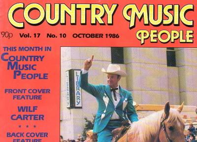 Country Music People magazine, October 1986 – Cover photo: Wilf Carter