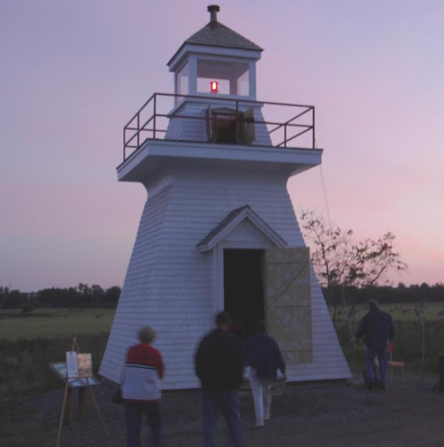 Celebration of the restoration of the Borden Wharf lighthouse, Canning, Nova Scotia