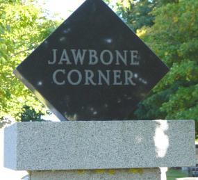 Kings County, Nova Scotia: Jawbone Corner Cemetery gatepost