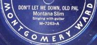 Montana Slim Montgomery Ward 78rpm record label