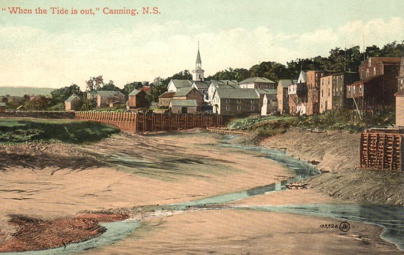 Low tide at Canning, postmarked August 1910