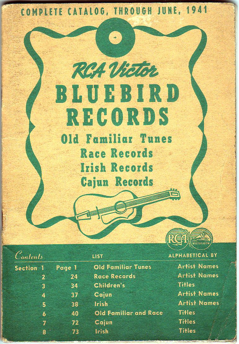 RCA Victor Bluebird Catalog 1941, cover