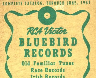 RCA Victor Bluebird Catalog 1941, top half front cover