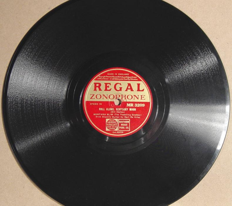 Montana Slim, Regal Zonophone MR-3209 78rpm record (England)
