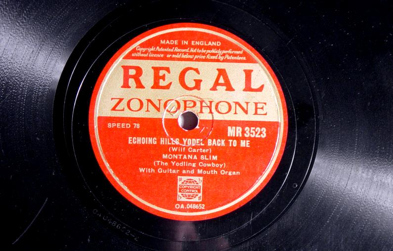 Montana Slim 78: Regal Zonophone MR-3523, Echoing Hills Yodel Back to Me