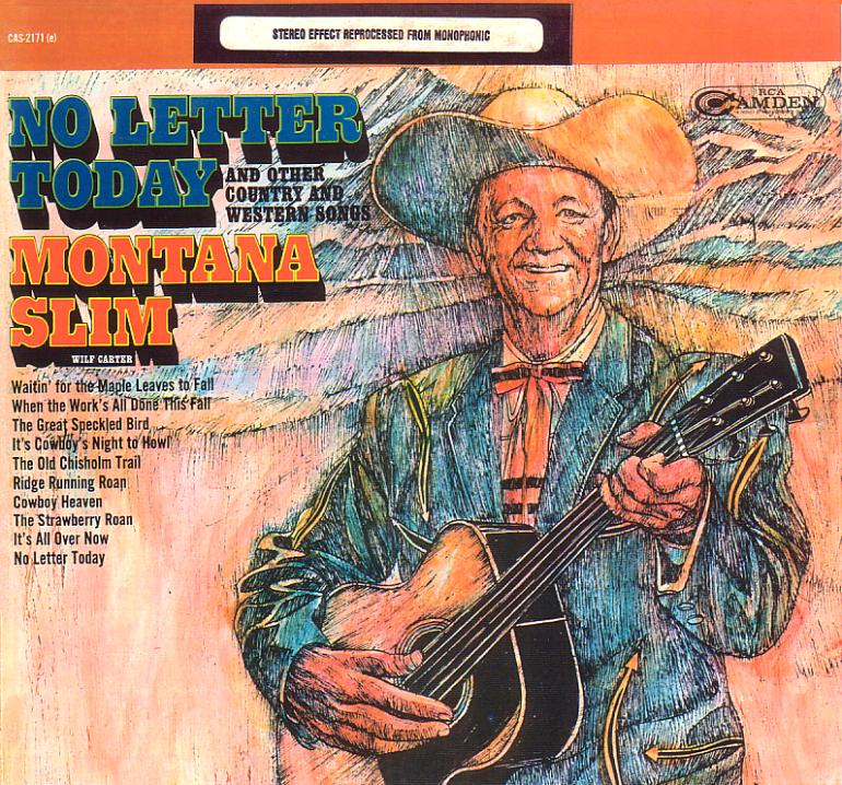 Jacket front: Montana Slim record (United States blue label) 33rpm LP Camden CAS-2171(e)