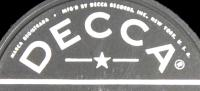 Wilf Carter Decca 78rpm record label