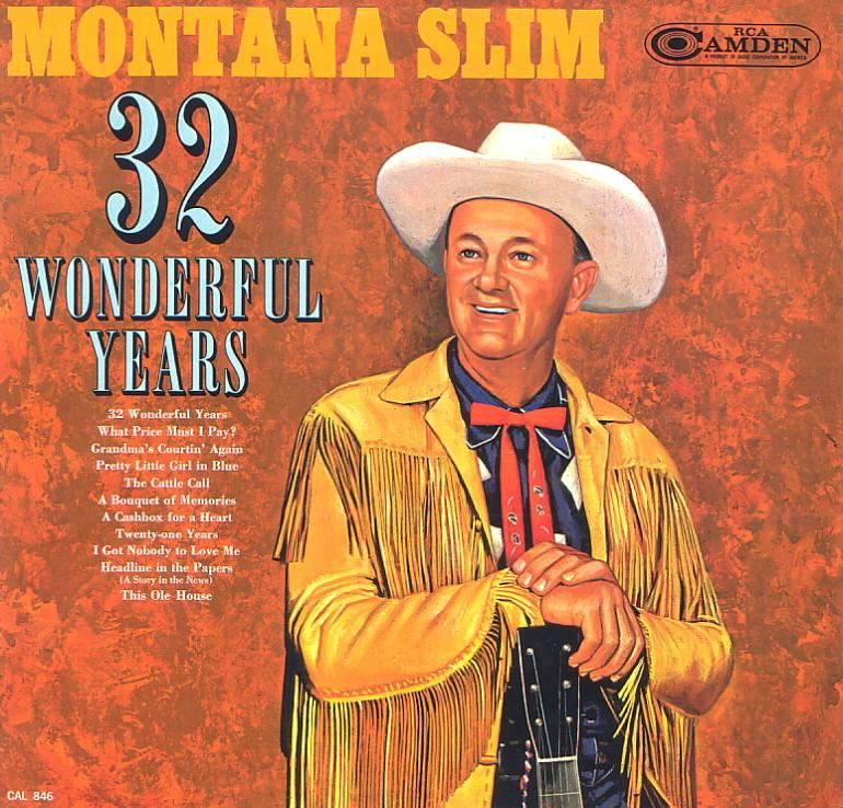 Jacket front: Montana Slim record (United States) 33rpm LP Camden CAL-846