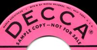 Montana Slim Decca 45rpm record label