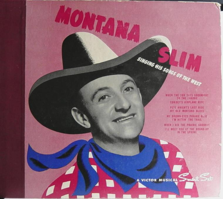 Montana Slim record album, early 1940s