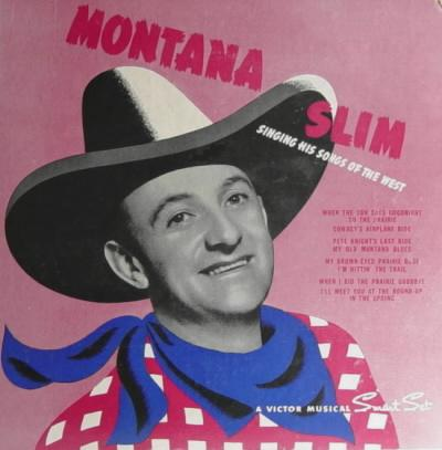 Cover: Montana Slim 78rpm record album P-114 (early 1940s)