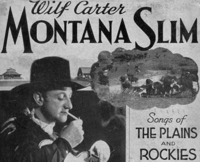 Montana Slim Postcard 1938, top half