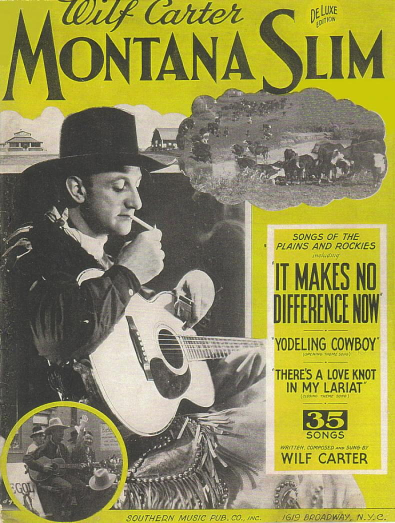 Montana Slim Song Book 1939, cover