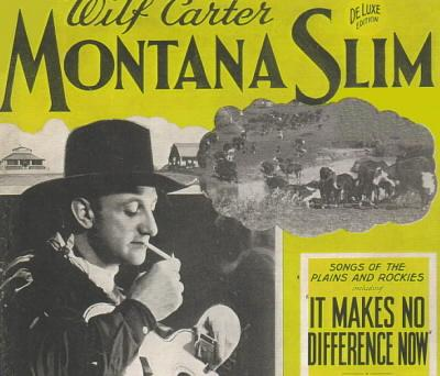 Montana Slim Song Book 1939, top half front cover
