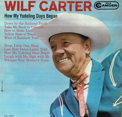 Jacket: Wilf Carter 33rpm LP RCA Camden CAL-2222
