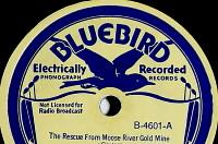 Wilf Carter RCA Bluebird 78rpm record label